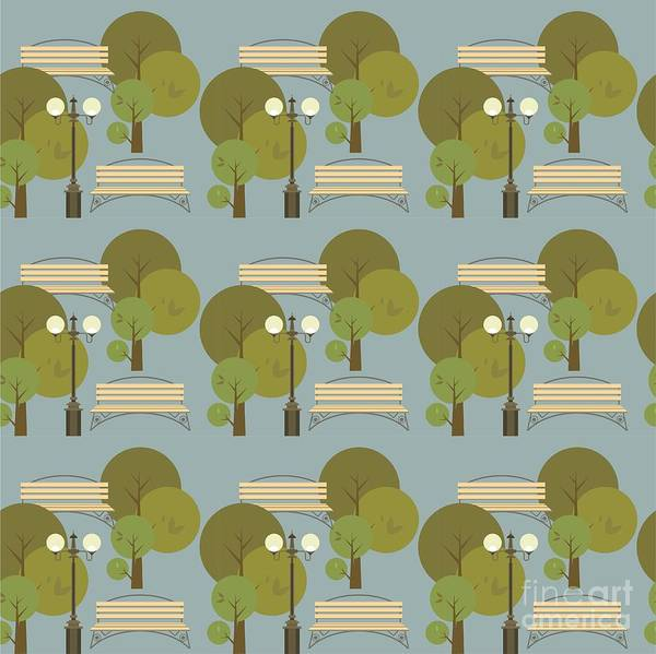 Seamless Pattern On The Theme Parks And Art Print