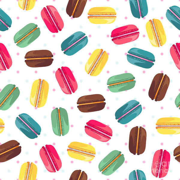 Wall Art - Digital Art - Seamless Pattern With French Sweet by Kannaa