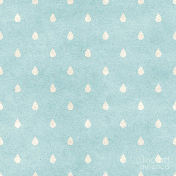 Wall Art - Digital Art - Seamless Raindrops Pattern On Paper by Irtsya