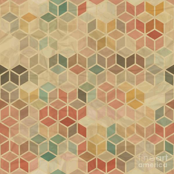 Wall Art - Digital Art - Seamless Retro Geometric Pattern by Incomible