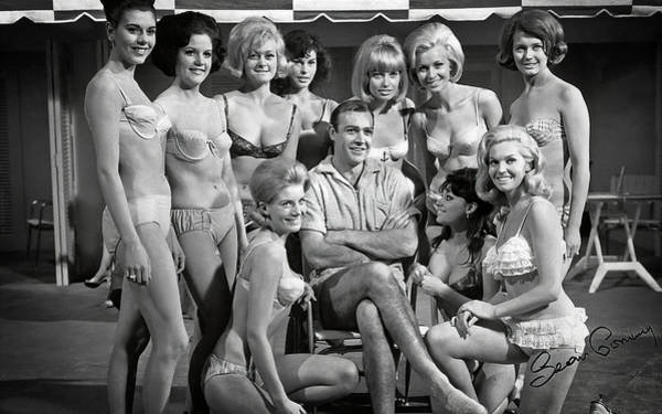 Wall Art - Photograph - Sean Connery And Girls by Daniel Hagerman