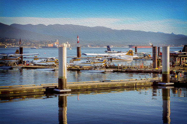 Sea Plane Photograph - Seaplanes At Coal Harbour Vancouver Canada by Carol Japp