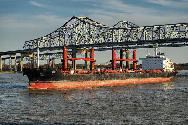 Photograph - Seas 1 Bulk Carrier 9589085 On The Mississippi by Bill Swartwout Photography