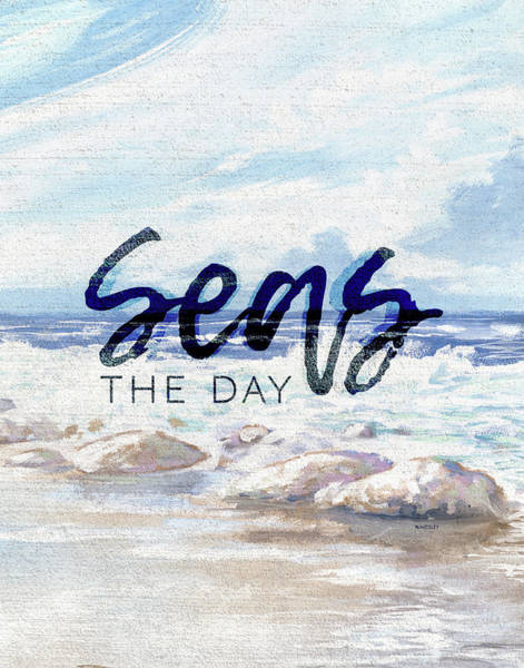 Wall Art - Painting - Seas The Day by Kingsley