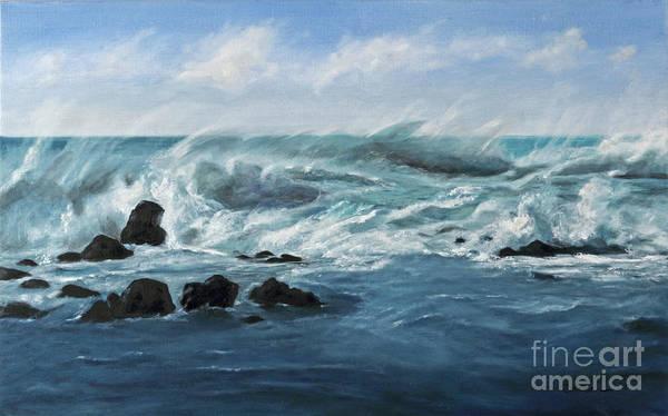 La Gomera Wall Art - Painting - Seascape 2 by Carol Weitz