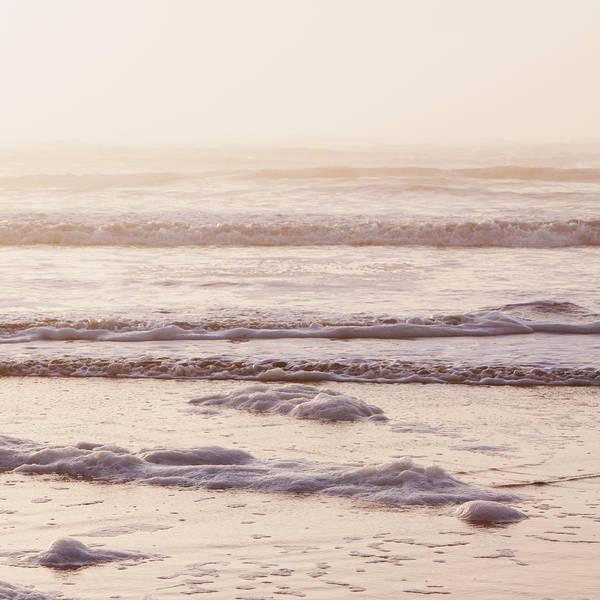 Washington Square Park Photograph - Seascape At Dusk, Waves Breaking On The by Mint Images - Paul Edmondson