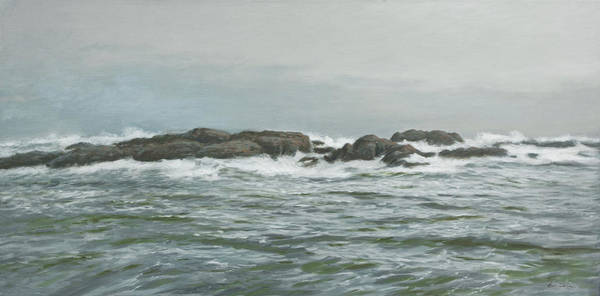 Wall Art - Painting - Seascape From Verdens Ende by Hans Egil Saele