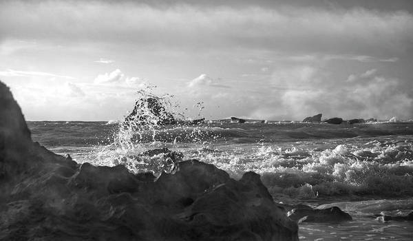 Wall Art - Photograph - Seascape In Black And White by Betsy Knapp