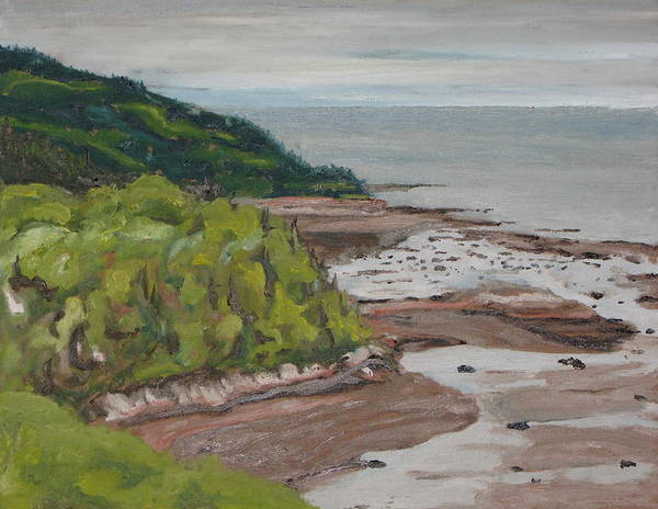 Wall Art - Painting - Seascape Oil Painting The Dunestadoussac Quebec Canada by Francois Fournier
