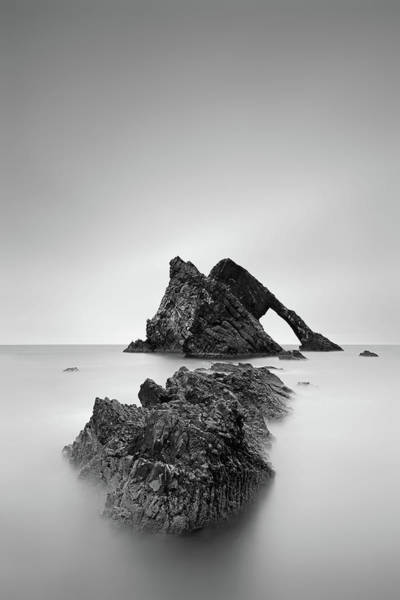 Wall Art - Photograph - Seascape Rocks - Bow Fiddle by Grant Glendinning