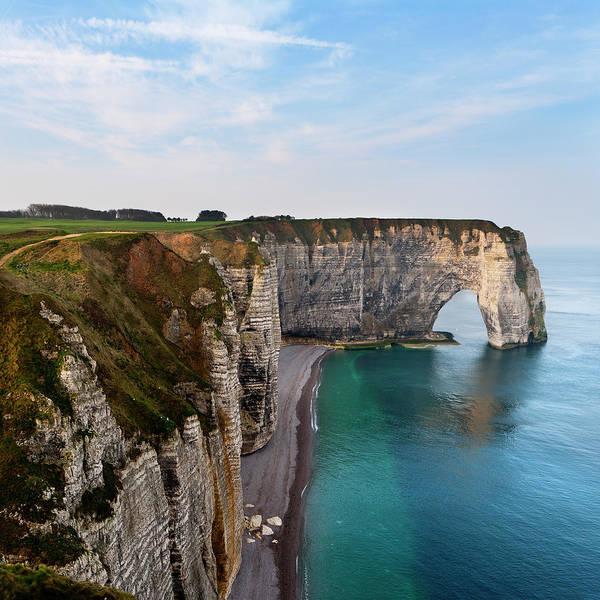 Etretat Photograph - Seascape With Cliff by Pilar Azaña Talán