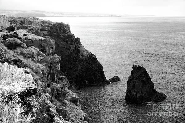 Wall Art - Photograph - Seascape With Monolith by Gaspar Avila