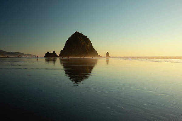 Wall Art - Photograph - Seascape With Rock Objects At Sunrise by Panoramic Images