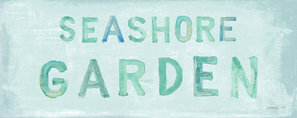Wall Art - Painting - Seashore Garden Sign by Danhui Nai