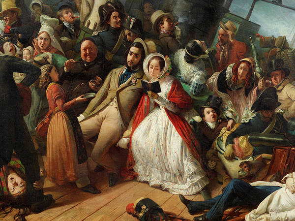 Wall Art - Painting - Seasickness by Francois-Auguste Biard