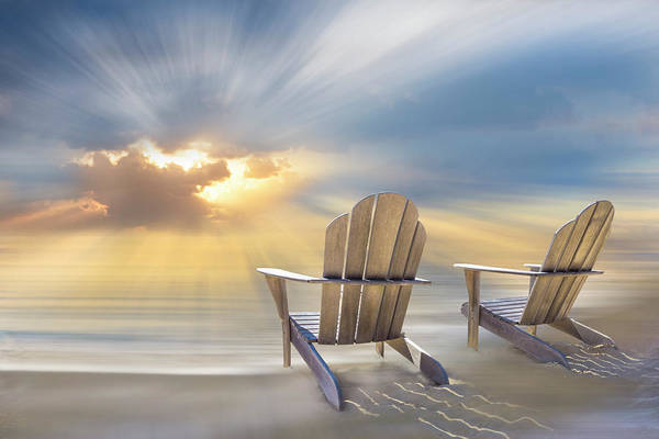 Wall Art - Digital Art - Seaside Dreams by Debra and Dave Vanderlaan