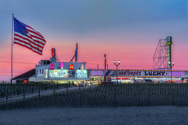 Photograph - Seaside Heights Boardwalk  by Susan Candelario
