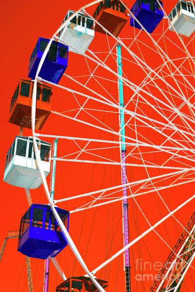 Wall Art - Photograph - Seaside Heights Ferris Wheel Pop Art by John Rizzuto