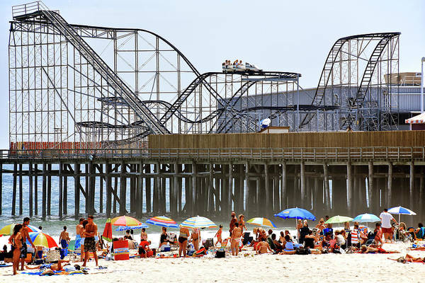 Seaside Heights Star Jet Roller Coaster Color 2006 Art Print by John Rizzuto