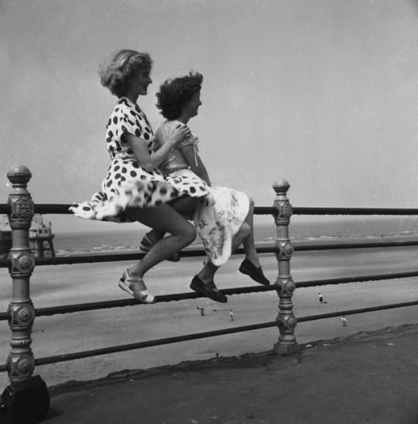 Sports Clothing Photograph - Seaside Holiday by Bert Hardy