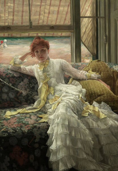 Wall Art - Painting - Seaside, July Specimen Of A Portrait, 1878 by James Tissot