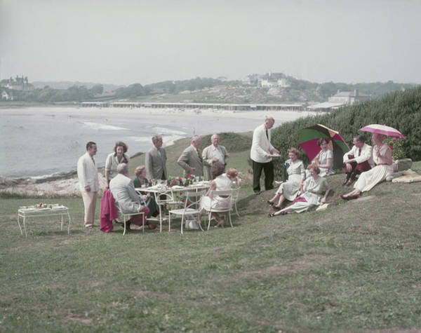 Ground Photograph - Seaside Luncheon by Slim Aarons