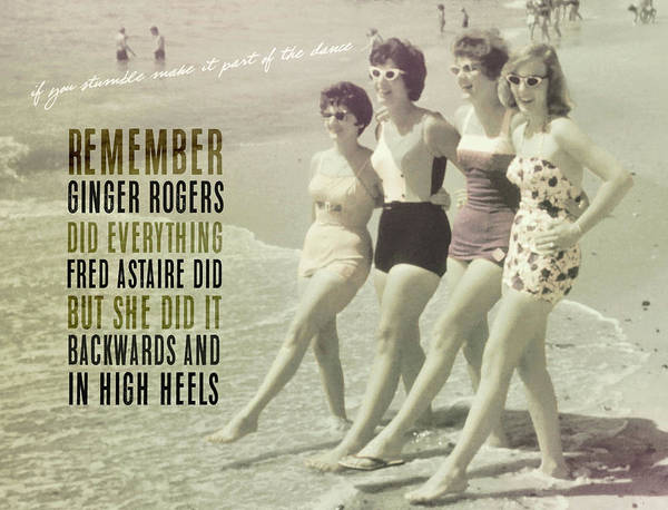 Seaside Rockettes Quote Art Print