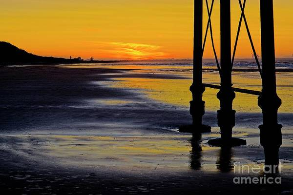 Photograph - Seaside Sunset At Saltburn by Martyn Arnold