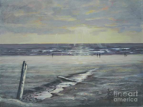 Cannon Beach Painting - Seaside Sunset by Paul Henderson