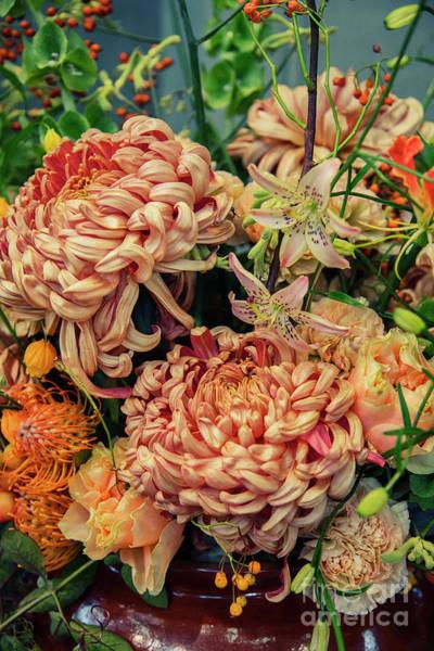 Photograph - Seasonal Autumn Flowers In Vase by Ariadna De Raadt