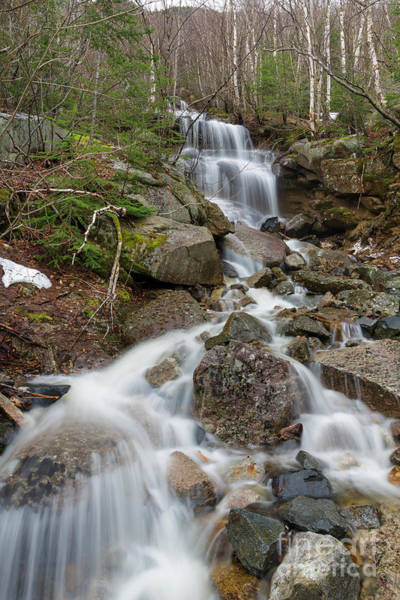 Photograph - Seasonal Waterfall - Franconia Notch, New Hampshire by Erin Paul Donovan