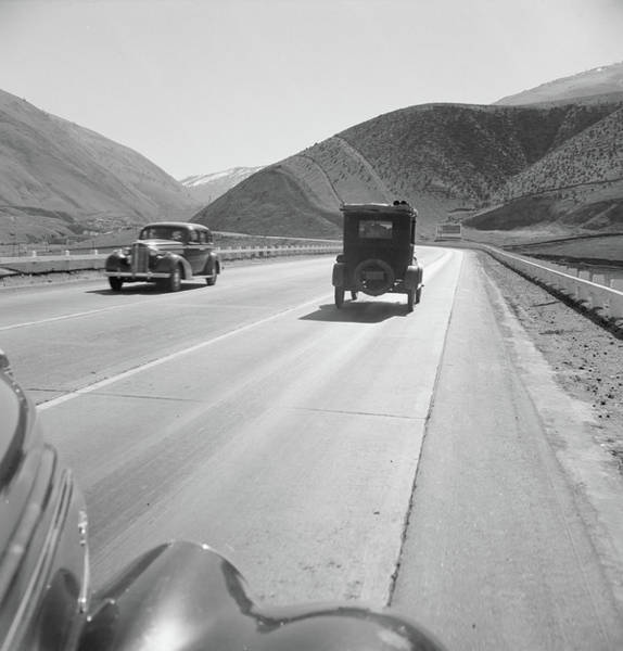 Wall Art - Photograph - Seasonal Workers Driving On Highway 99, 1939 by Dorothea Lange
