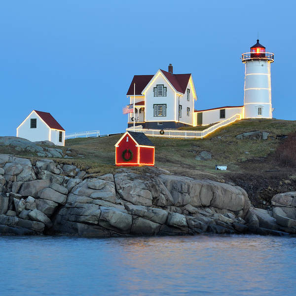 Wall Art - Photograph - Season's Greetings From The Nubble by Luke Moore