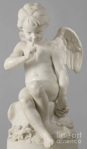 Wall Art - Sculpture - Seated Cupid, 1757 Marble by Etienne-Maurice Falconet
