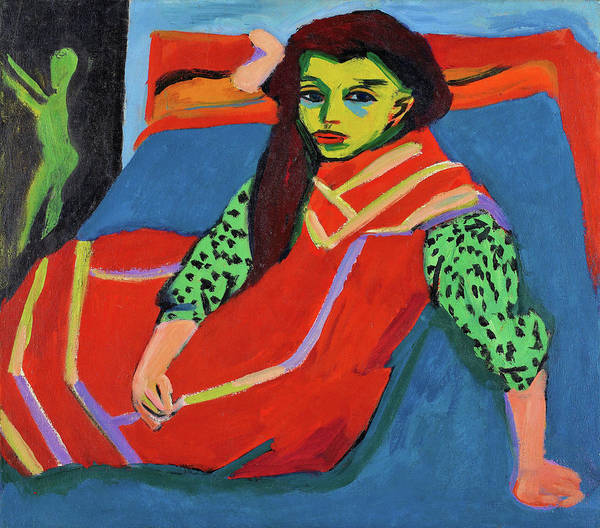 Wall Art - Painting - Seated Girl - Digital Remastered Edition by Ernst Ludwig Kirchner