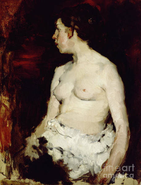 Wall Art - Painting - Seated Nude, Circa 1879 by Frank Duveneck