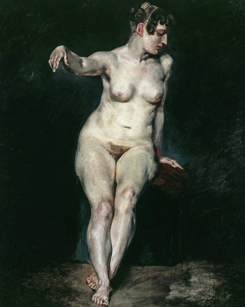 Wall Art - Painting - Seated Nude, Mademoiselle Rose, 1820 by Eugene Delacroix
