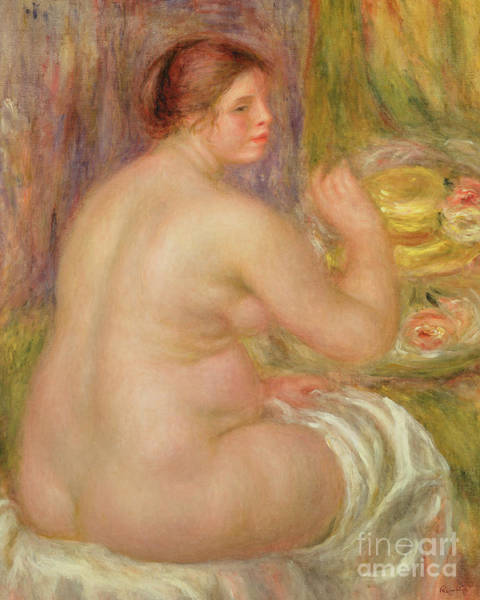 Wall Art - Painting - Seated Nude, The Pregnant Woman  by Pierre Auguste Renoir