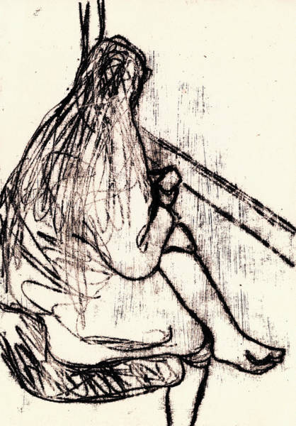 Drawing - Seated Woman By A Window by Artist Dot