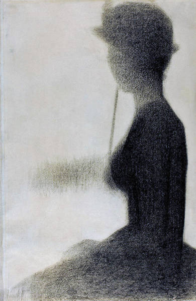 Wall Art - Painting - Seated Woman With A Parasol - Digital Remastered Edition by Georges Seurat