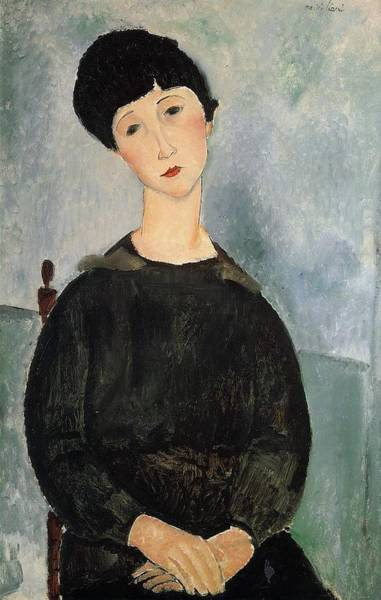 Wall Art - Painting - Seated Young Woman - 1918 by Modigliani Amedeo
