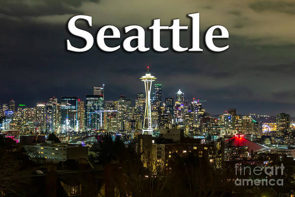 Photograph - Seattle At Night by G Matthew Laughton