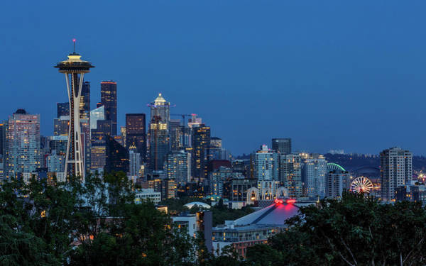 Photograph - Seattle Skyline by Wes and Dotty Weber