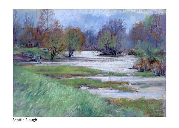Pastel - Seattle Slough by Betsy Derrick