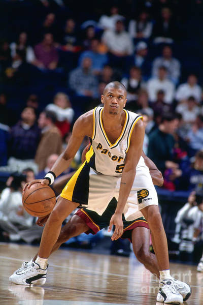 Photograph - Seattle Supersonics V Indiana Pacers by Nathaniel S. Butler
