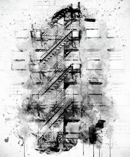 Photograph - Building Abstract - Bw by Marilyn Wilson