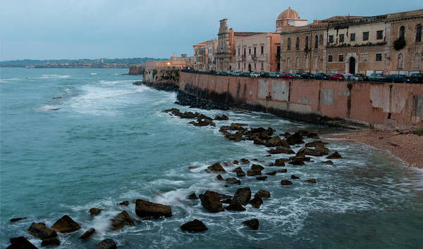 Sicily Photograph - Seawall Of Ancient City Of Ortegia by Stuart Mccall