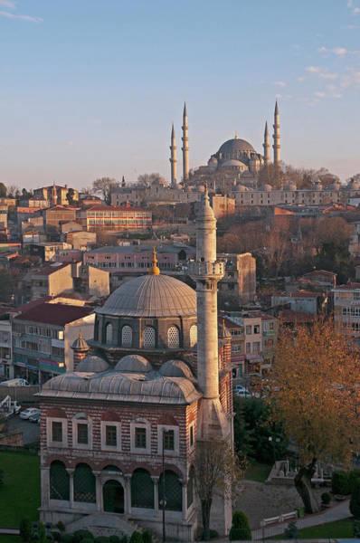 Suleymaniye Mosque Photograph - Sebsefa Hatun And Suleymaniye Mosques by Korhan Sezer