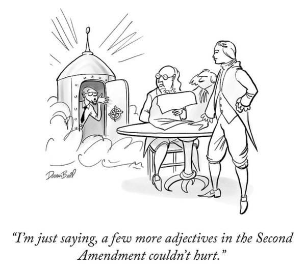 Interpretation Drawing - Second Amendment by Darrin Bell