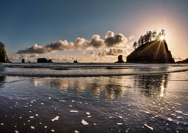 Photograph - Second Beach Light And Current by Leland D Howard